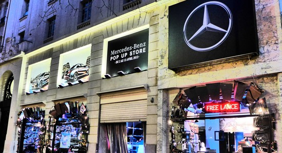 MBpop Mercedes : Un Pop Up Store éphémère dans Paris!